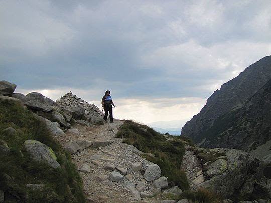 Początek zejścia z progu Doliny Hińczowej.