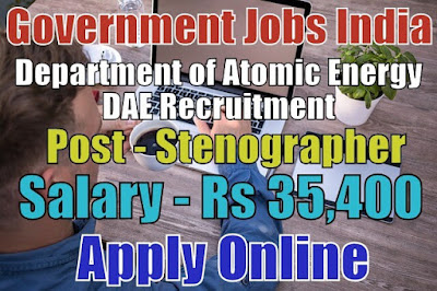 Department of Atomic Energy Recruitment 2018