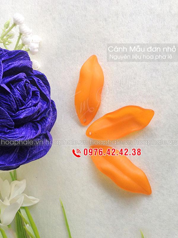 Cánh mẫu đơn nhỏ - Nguyên liệu làm hoa pha lê