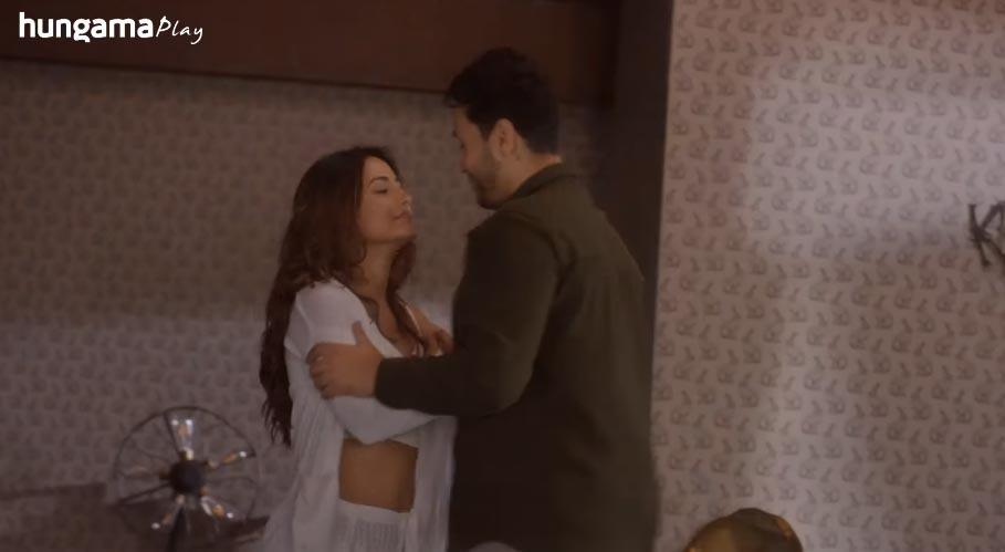 hina khan intimate scene in damaged 2 web series