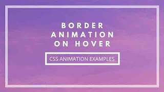 Simple CSS Border animations on hover