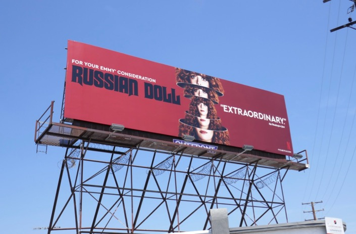 Russian Doll season 1 Emmy billboard