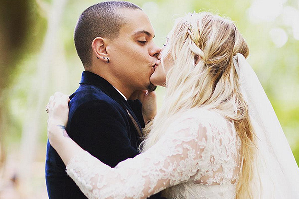 Better late than never: Ashlee Simpson and Evan Ross showed wedding photo
