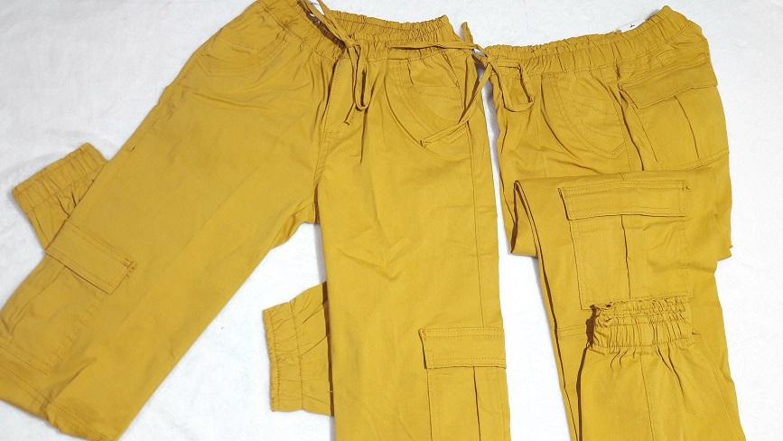 Pantalon Gabardina stretch, bolsas a los costados color Mostaza