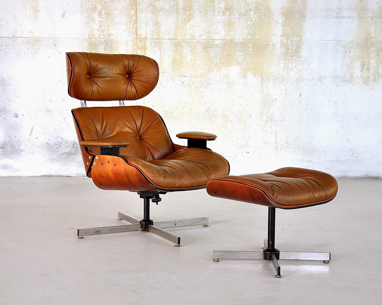 Eames Lounge Select Modern: Eames Leather Lounge Chair & Ottoman