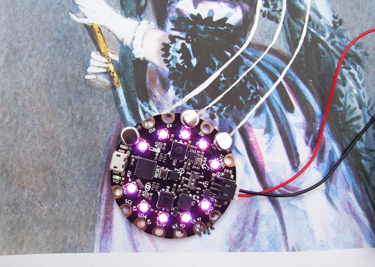 Light Up Ada Lovelace With Circuit Scribe And Playground Invention Draw Circuits Instantly Conductive Turn On The Battery Pack For You Dont Need This Project Rotate Potentiometer Should