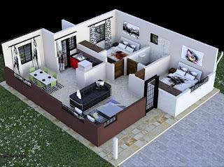 Denah Rumah Type 45 sebagai Inspirasi Rumah Impian