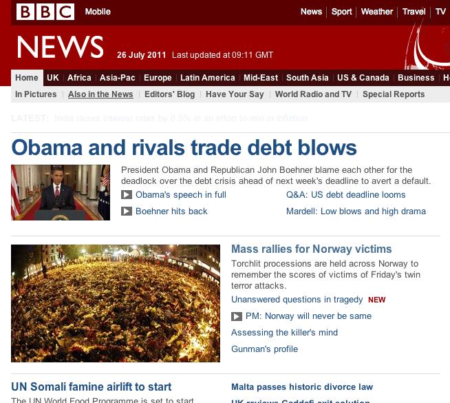 1c2f9e87662 Kuigi ka BBC pöörab liig suurt tähelepanu Breiviki isikule, siis on sealse  interneti esileheküljel tähtsaim uudis aeg ajalt ka pildid leinavatest ...