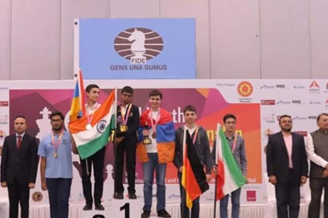 Dos armenios ganadores de la Copa del Mundo Junior de Ajedrez