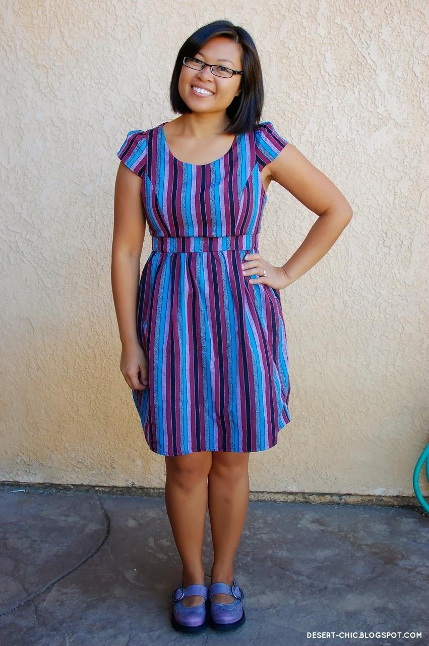 4c42b97a29b9 Desert Chic: Misty Purple and Jewel Toned Stripes