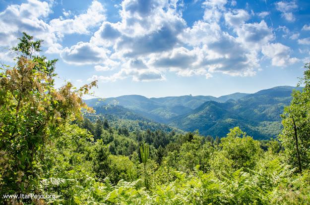 Nidze Mountain, panoramic view near Gradeshnica village