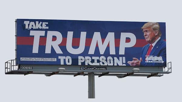 Trump Billboard in Houston