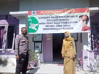 Silaturahmi Nakes Pustu, Bhabinkamtibmas Kontrol Perkembangan Posko Kampung Tangguh dan PPKM