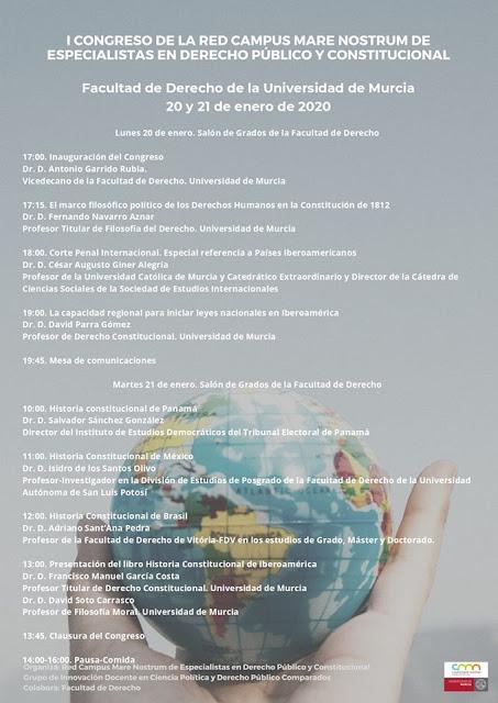 I Congreso de la Red Campus Mare Nostrum de especialistas en Derecho Público y Constitucional