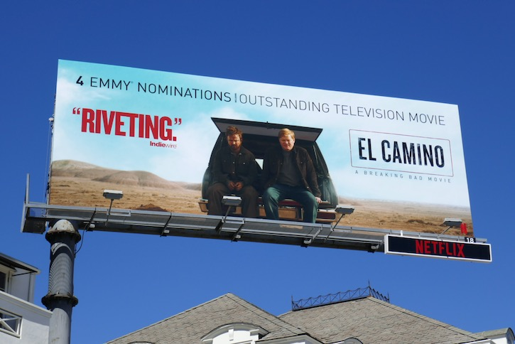 El Camino 4 Emmy nominations billboard