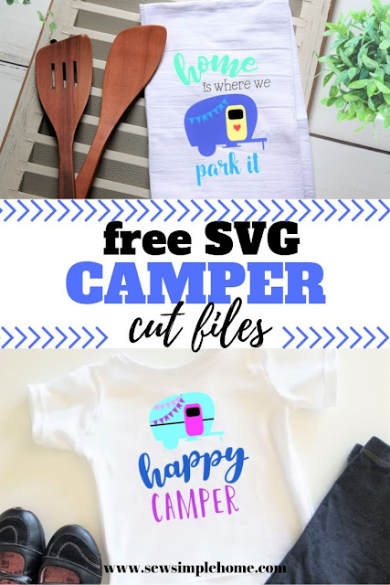 Learn how to easily ungroup on Cricut Designs Space with this free happy camper SVG file.