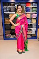 Raashi Khanna in Pink Kanjiwaram saraee at RS Brothers show room launch