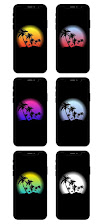 palms silhouete amoled oled wallpapers for iphone android ios