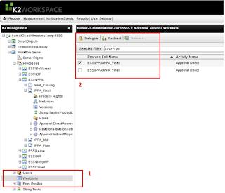 Delegate Task Using K2 Workspace