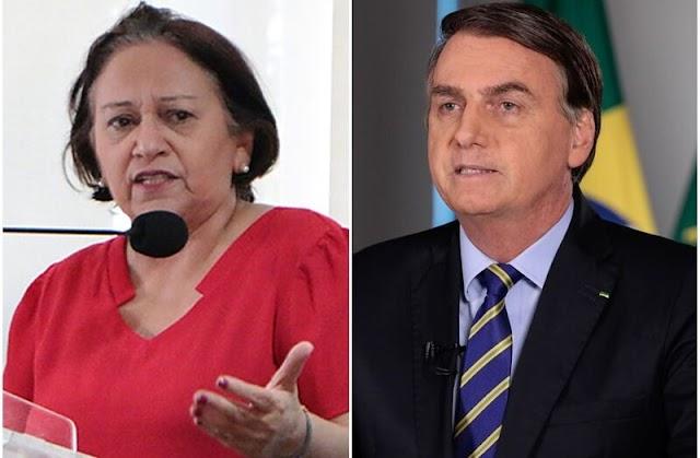 Governo Bolsonaro é mais bem avaliado que o de Fátima no RN; confira pesquisa