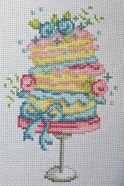 Wonky Layer Cake Cross Stitch Before
