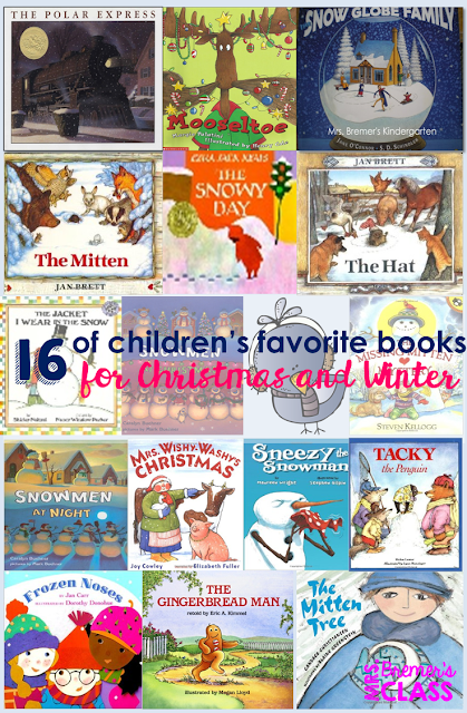 A list of the top favorite Christmas and winter books for children with companion activities to go with each one.
