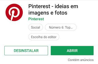 Como abro o Pinterest