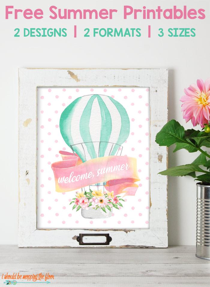 Watercolor Pastel Summer Printable