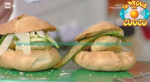 Ciabatte rustiche con pollo morbido e zucchine ricetta Persegani da Prova del Cuoco