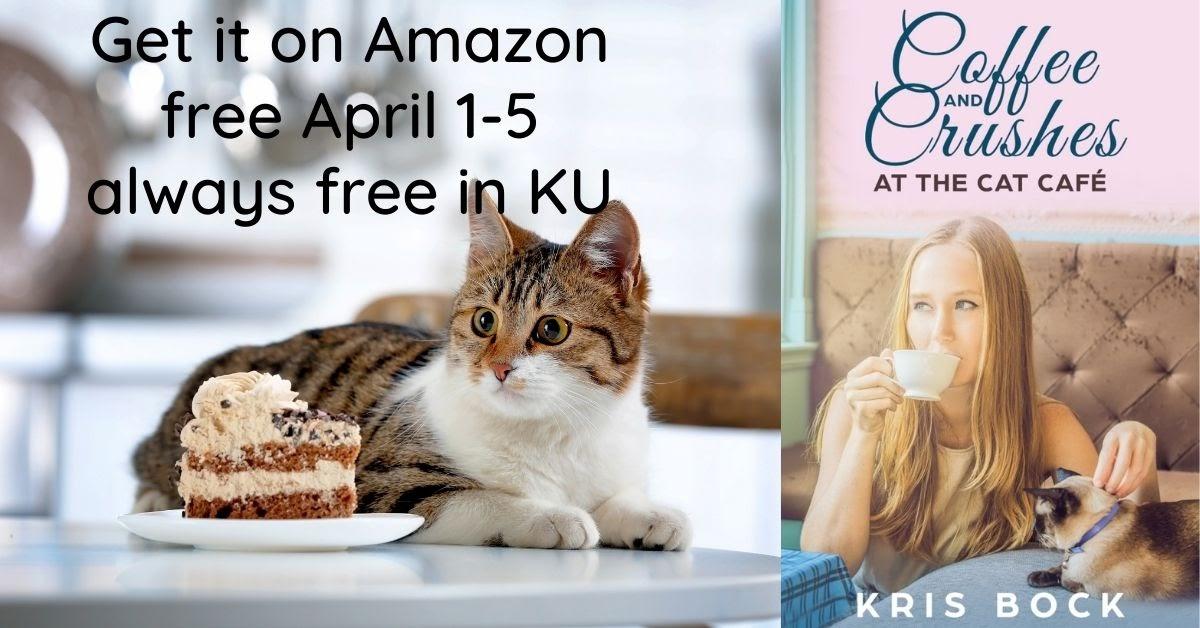 Get a Cat Café Sweet Romance FREE April 1-5! #freebook #Romance #contemporaryromance #sweetromance  #cleanromance