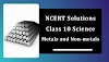 NCERT Solutions for Class 10 Science Chapter 3 Metals and Non-metals