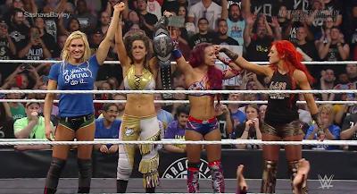WWE NXT Sasha Banks Bayley Flair Becky Lynch Tag Raw