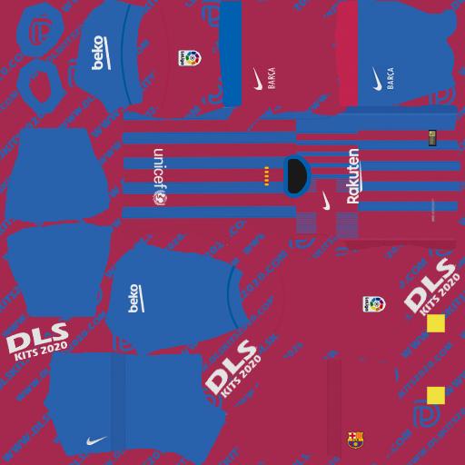 Fc Barcelona Kits 2021-2022 Nike for Dream League Soccer 2021 (Home)