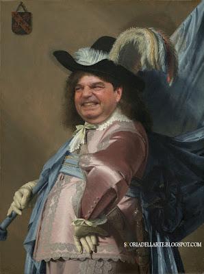 Fotomontaggi di politici in capolavori della storia dell'arte-Ritratto di Renato Brunetta in parata