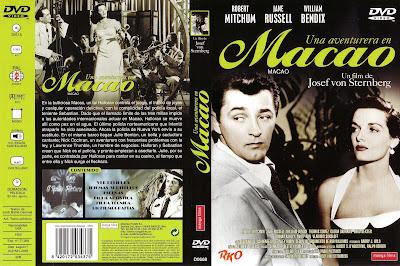 Carátula dvd: Una aventurera en Macao (1952) Macao