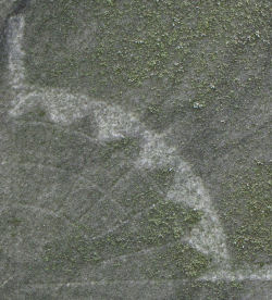 detail on gravestone