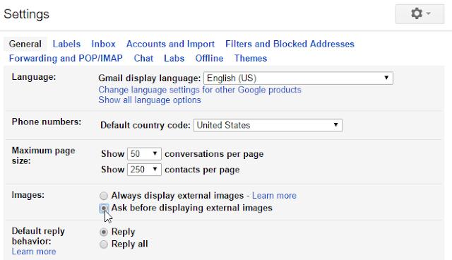 تغيير إعدادات الصورة في جوجل