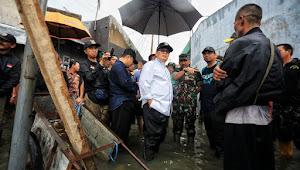 Oded Kinjungi Banjir Yang Menggenang Bandung Timur