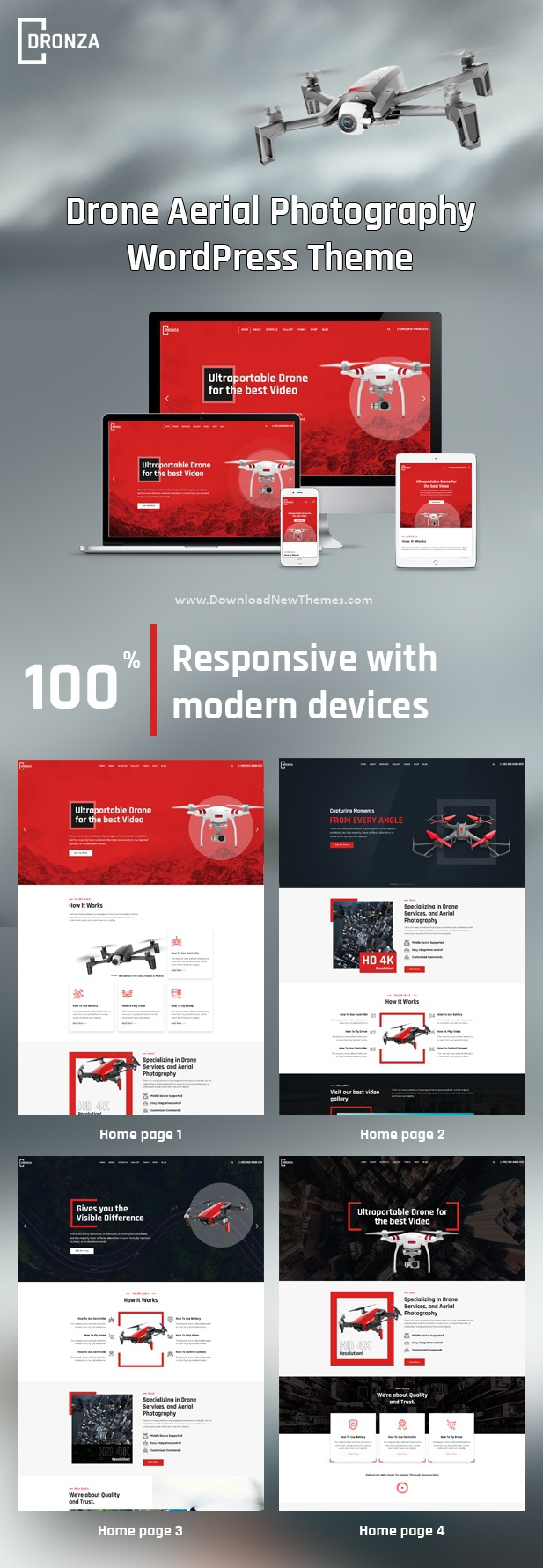 Drone Aerial Photography WordPress Theme