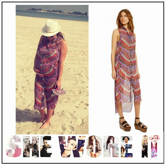 All Over Rainbow Coral Print, Beach Cover Up, Billi Mucklow, Celebrity Fashion, Mara Hoffman, Multi Coloured, Shirt Dress, Sleeveless, The Only Way Is Essex, TOWIE,