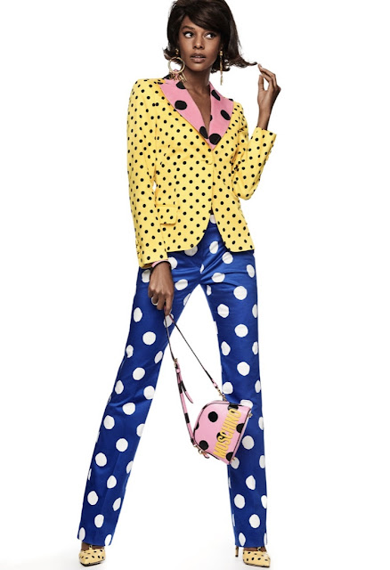 Moschino 1980s pant suit polka dots
