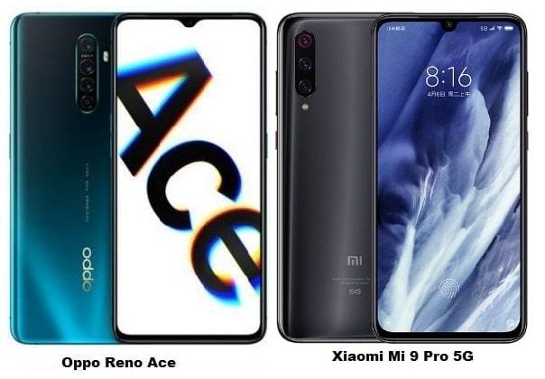 Oppo Reno Ace Vs Xiaomi Mi 9 Pro 5G Specs Comparison