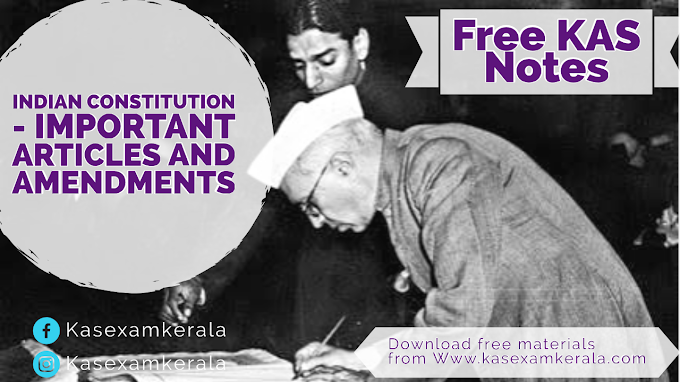 Important Articles and amendments  of Indian Constitution | Download Free PDF | Kerala Administrative Service | Indian Polity