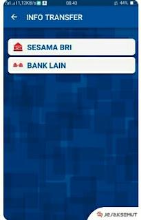 pilih sesama bri atau bank lain