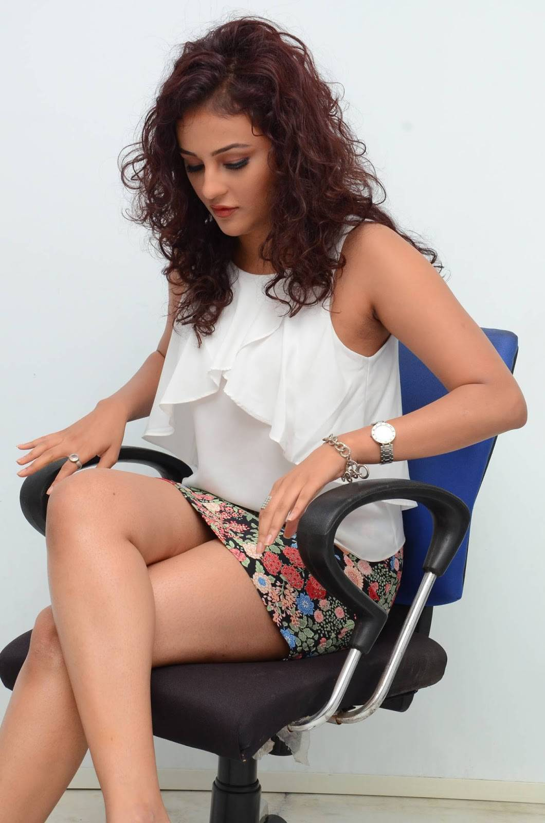 Seerat Kapoor Stills In White Dress At Columbus Movie Interview