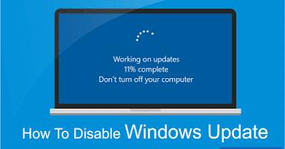 cara mematikan update windows 10
