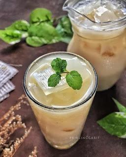 Thai tea nata de coco