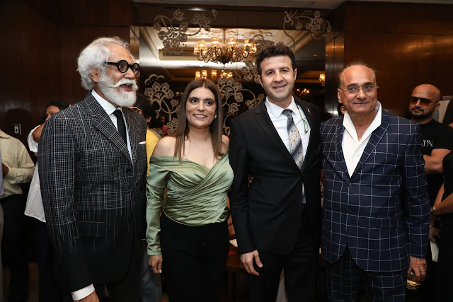 FDCI Chairman Sunil Sethi,Reynu Taandon,Ambsaador of Lebanon to India Rabie Narsh  and Sunil Tandon