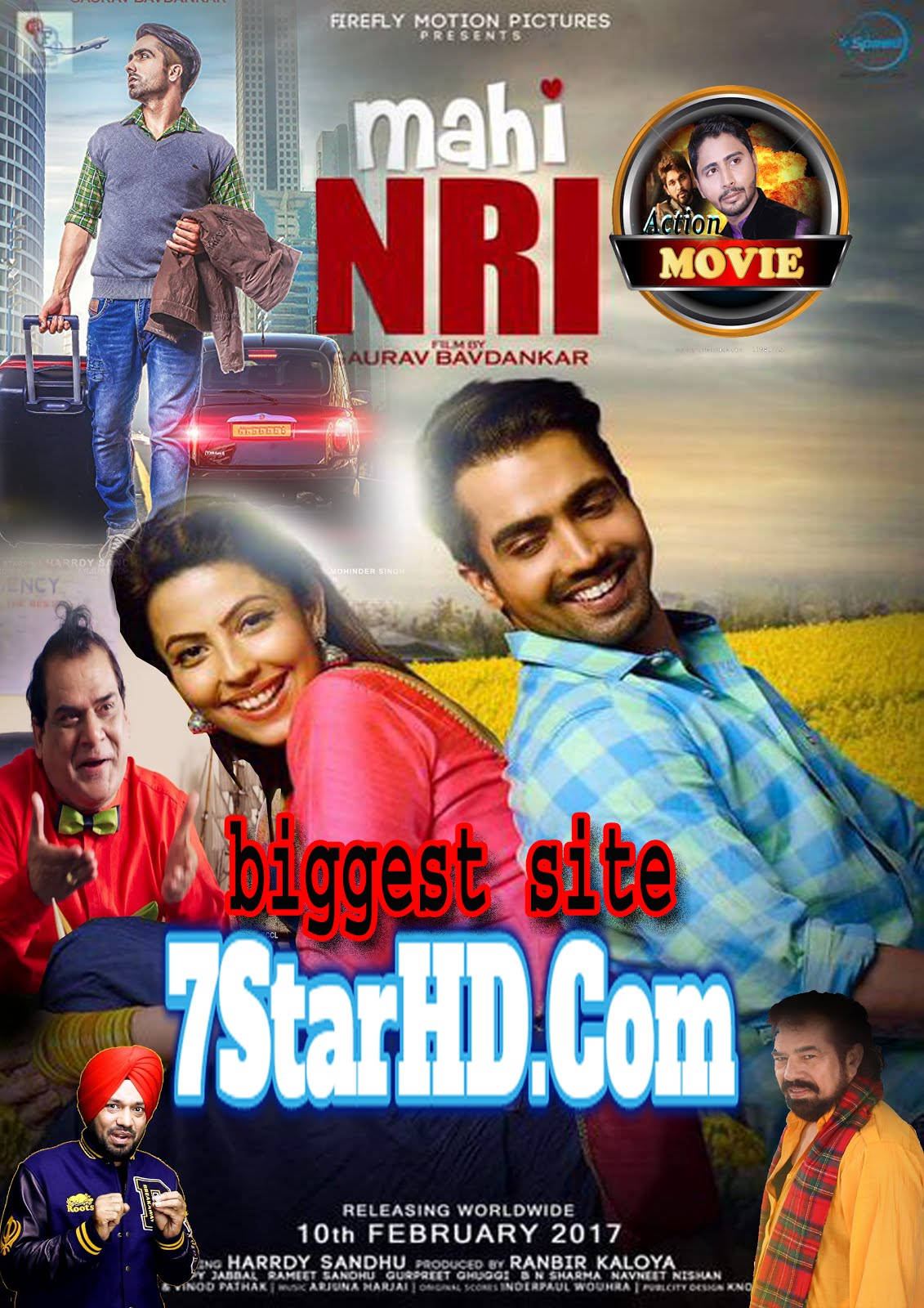 Mahi NRI (2017) Punjabi 720p WEBRip 999MB ESubs Free Download