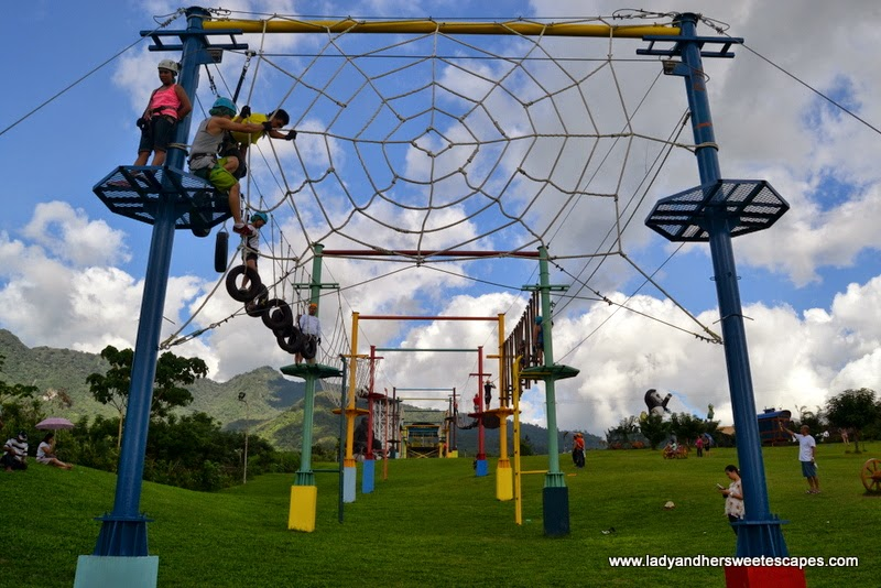 the fun challenge at Campuestohan Highland Resort